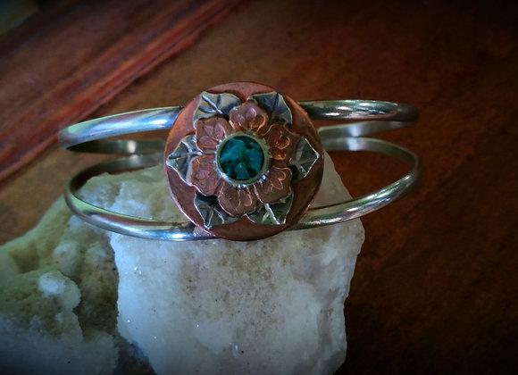 Copper flower bracelet