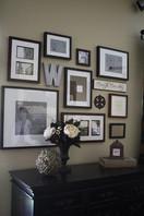 foyer photo wall