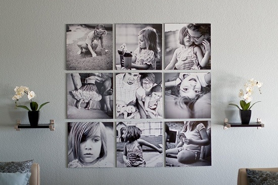 canvas photo wall