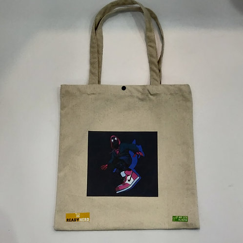 Canvas Tote Bag: Miles Morales Spiderman