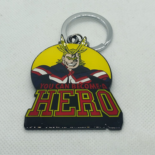All Might Metal Keychain