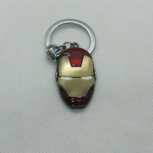 Mavel Ironman Mini Helmet Metal Keychain