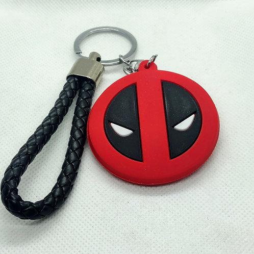 Deadpool Logo Rubber Keychain