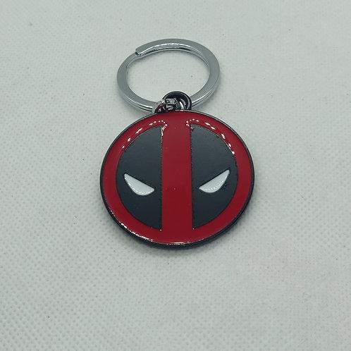 Deadpool Logo Metal Keychain