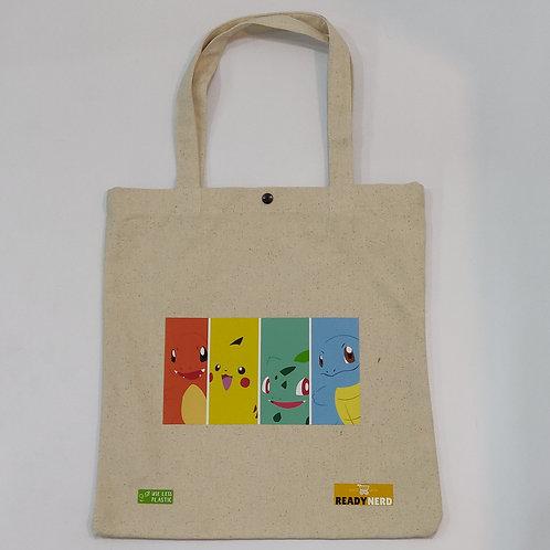 Canvas Tote Bag: Pokemon Starters Kanto Region