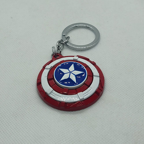 Captain America Shield Metal Keychain