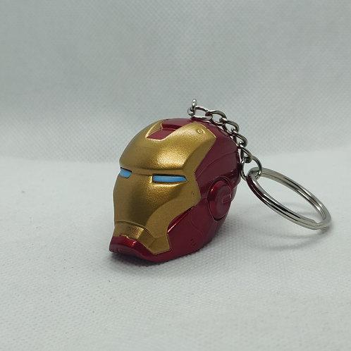 Mavel Ironman 3d Helmet Rubber Keychain