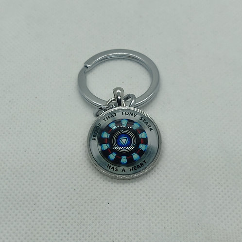 Mavel Ironman ARC Reactor Metal Keychain
