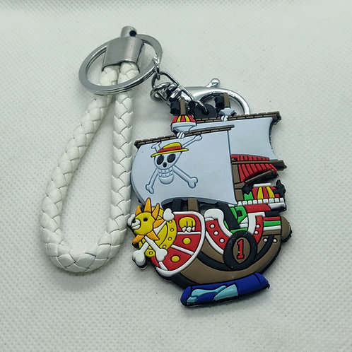 One Piece The Thousand Sunny Rubber Keychain