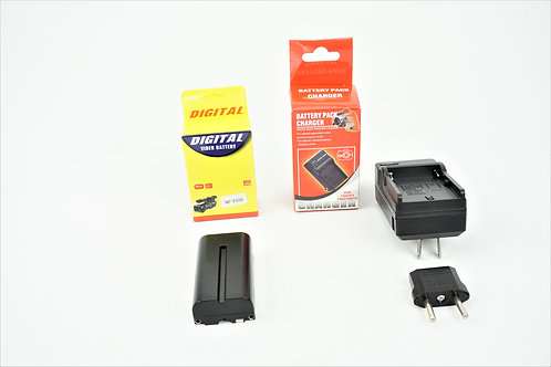 NP F-750 battery & charger pack