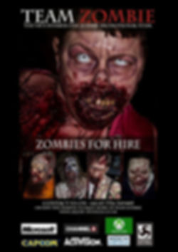 """zombies for hire, zombie photography, film production, sfx makeup, UK"""