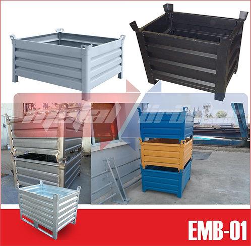 EURO BOX- İstiflenebilir Metal taşıma Kasası
