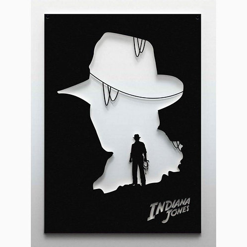 Indiana Jones Metal Silüet