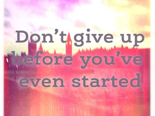 Choosing to Give Up