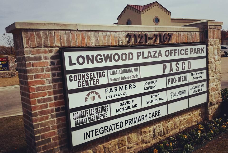 In Longwood Plaza Office Park.