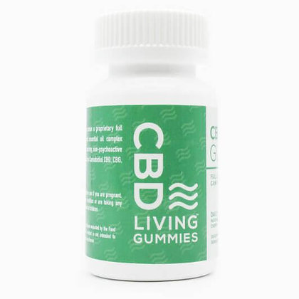 CBDLiving Sour Gummy Bears 30 count