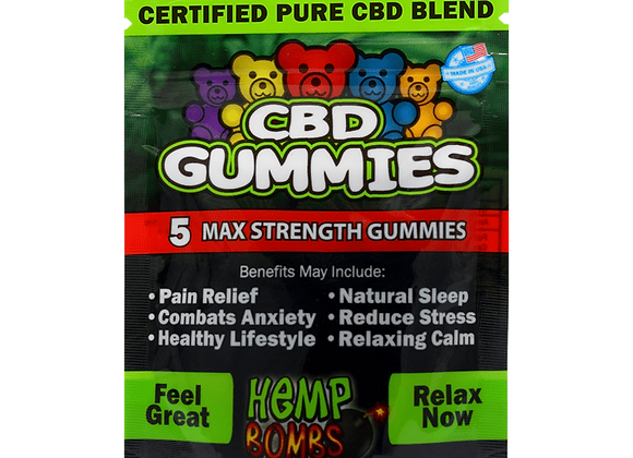 HempBombs CBD Gummies (5 Count)