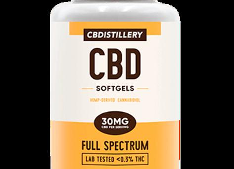 CBDistillery 30mg Full Spectrum CBD Infused Softgels, 30 Count
