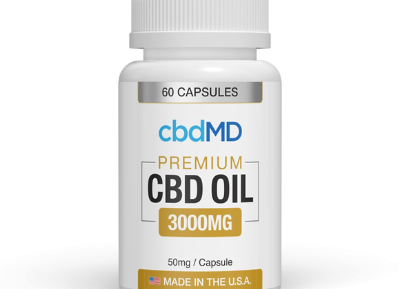 cbdMD Premium 3000mg Capsules