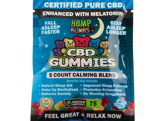 HempBombs 5 Count Sleep Gummies