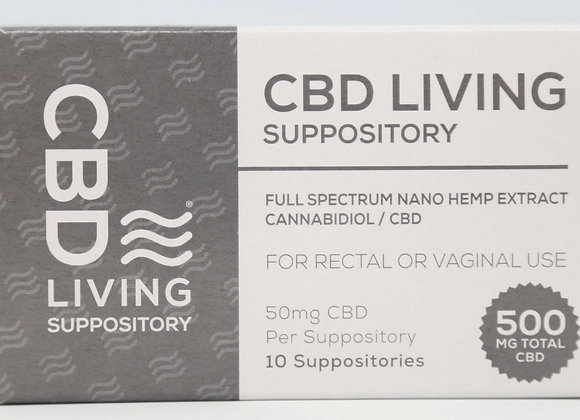CBD Living Suppositories 500mg
