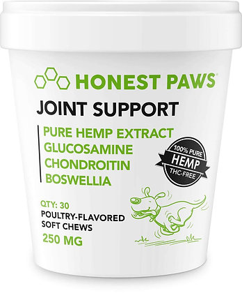Honest Paws Joint Support - Hemp Soft Chews 250mg