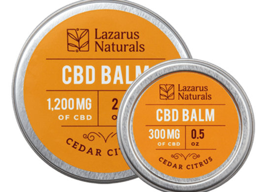 Lazarus Naturals 300mg Cedar Citrus CBD Balm