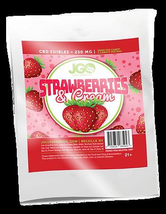 JGO Strawberries & Cream Gummies 250mg