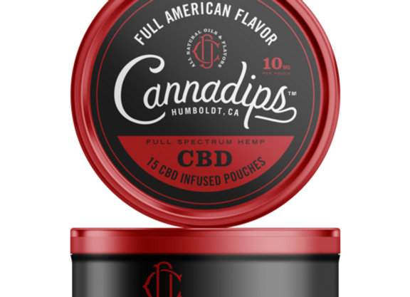 Cannadips Full American CBD Pouches 150mg
