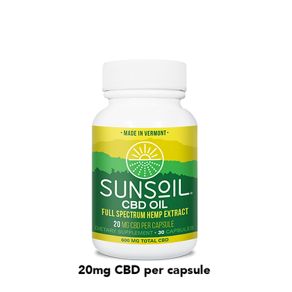 SunSoil CBD Oil Full Spectrum Hemp Extract  600mg