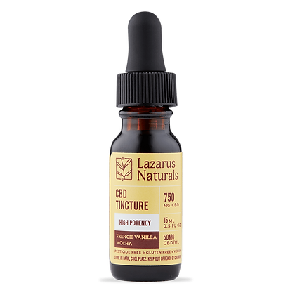 Lazarus Naturals 750mg French Vanilla Mocha High Potency Tincture