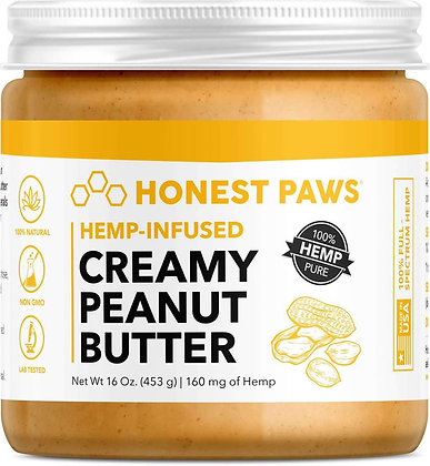 Honest Paws Creamy Hemp-Infused Peanut Butter 160mg