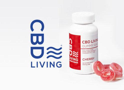 CBDLiving Cherry Rings 30 Count