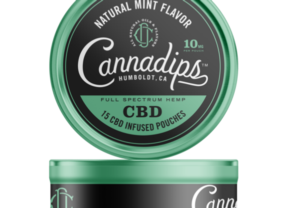 Cannadips Natural Mint CBD Pouches 150mg