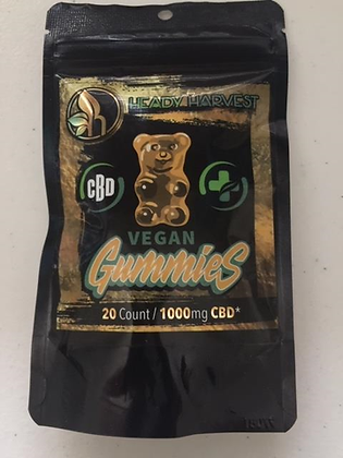 Heady Harvest Gummy Bears 1000mg