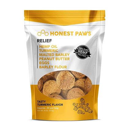 Honest Paws Tasty Turmeric Flavored Hemp Dog Treats