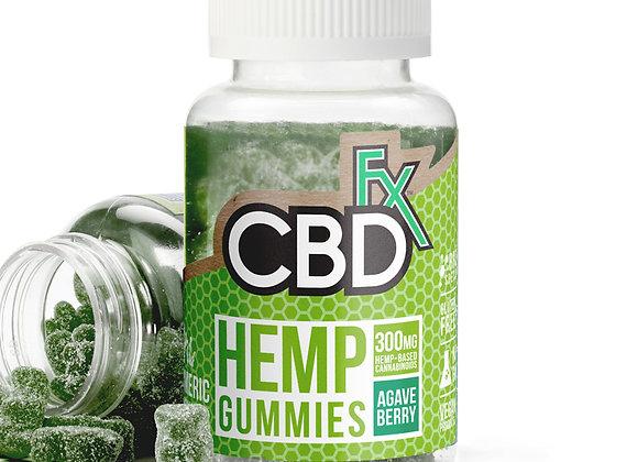 CBDfx CBD Gummies with Turmeric and Spirulina 300mg