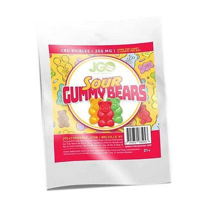 JGO Sour Gummy Bears 250mg