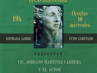 """""""Anticuario"""" de Lucas Hernández en el Centro Cultural Elena Garro."""