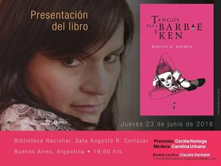 """Maritza M. Buendía y """"Tangos para Barbie y Ken"""" en Buenos Aires, Argentina."""
