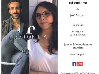 """Lanzamiento: """"La mujer de mi entierro"""" de José Memun"""