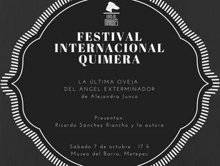 Alejandra Junco en el Festival Quimera de Metepec, Edo. de México.