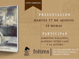 """""""En otra vida"""" y Elisabet Almegard en Freims."""