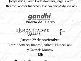 Respirando Agua, de Eliza Puente, con Letras en Tacones (FIL Guadalajara 2018 / Gandhi Puerta de Hie