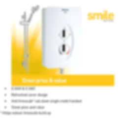 Smile Electric Shower, supplied and fitted by local Plumbing engineers at PlumbLife in Erith. local plumbing service