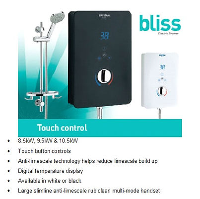 Bliss Electric Shower, supplied and fitted by local Plumbing engineers at PlumbLife in Erith. Local plumbing service
