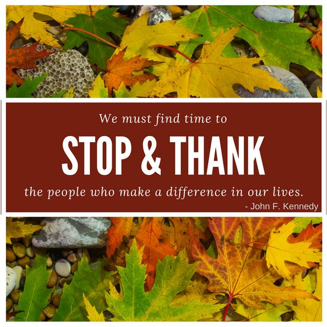 Stop & Thank