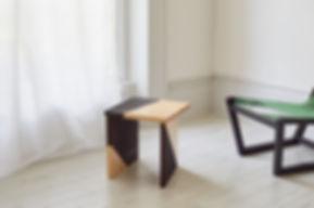 Burnt Side Table