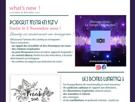 Les actualités de Lunatiq, l'Emission Holistique qui vous veut du bien !