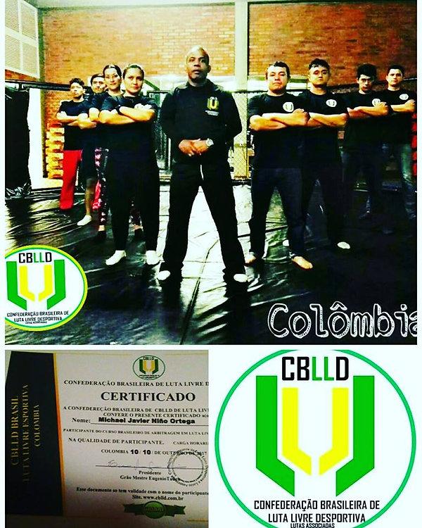 Colômbia  No dia 8 de outubro de 2017 foi realizado o Curso de árbitro internacional e certificação de Luta Livre Esportiva . CBLLD. Colômbia